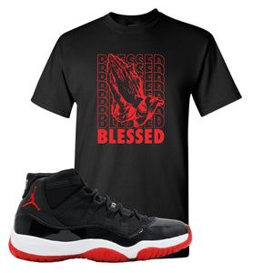Jordan 11 Bred Blessed Black Sneaker Hook Up T-Shirt