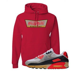 Air Max 90 Infrared Hoodie | Krispy Kicks, Red