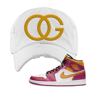 Air Jordan 1 Mid Familia Distressed Dad Hat | OG, White