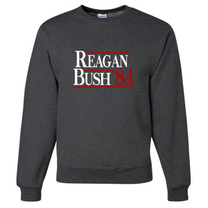 Standard Issue Reagan Bush '84 Dark Gray Grunt Life Crewneck Sweater
