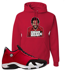 Air Jordan 14 Gym Red Hoodie | Red, Escobar Illustration