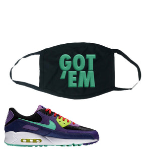 Air Max 90 Cheetah Face Mask | Got Em, Black