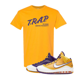 Lebron 7 'Media Day' T Shirt | Gold, Trap To Rise Above Poverty