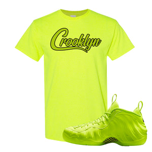 Air Foamposite Pro Volt T Shirt | Crooklyn, Safety Green