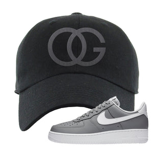 Air Force 1 Low Wolf Grey White Dad Hat | Black, OG