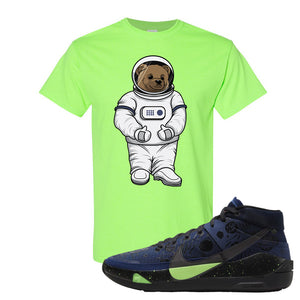 KD 13 Planet of Hoops T Shirt | Astro Bear, Neon Green