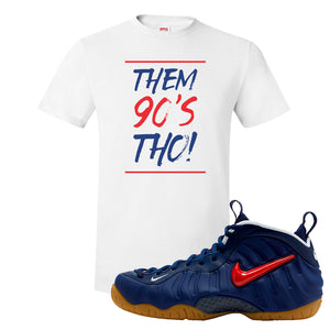 Air Foamposite Pro USA T Shirt | White, Them 90's Tho