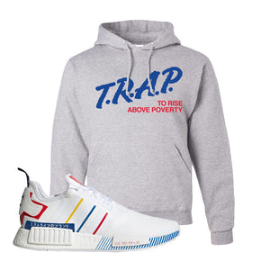 NMD R1 Olympic Pack Hoodie | Ash, Trap To Rise Above Poverty