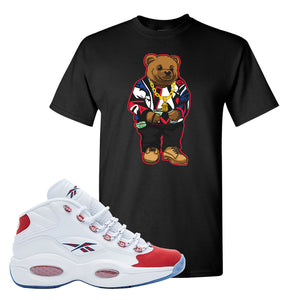 FOOT CLAN | REEBOK QUESTION MID OG SUEDE TOE | SWEATER BEAR | T-SHIRT | BLACK