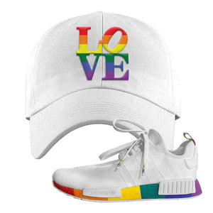 NMD R1 Pride Dad Hat | White, Love Park