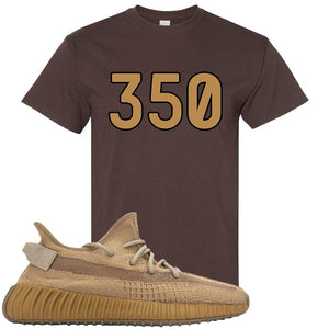 Yeezy Boost 350 V2 Earth Sneaker T-Shirt To Match | 350, Dark Chocolate