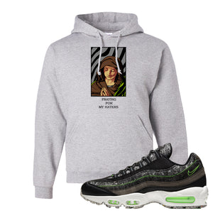 Air Max 95 Black / Electric Green Hoodie | God Told Me, Ash