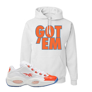 Question Low Vivid Orange Hoodie | Got Em, White