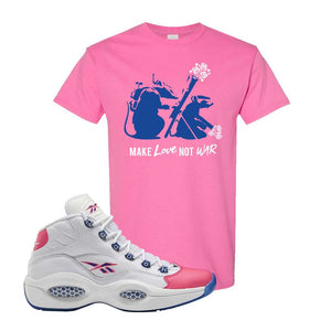 Question Mid Pink Toe T-Shirt | Army Rats, Azalea