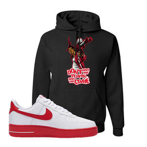 Air Force 1 Low Red Bottoms Hoodie | Black, Don't Hate The Playa