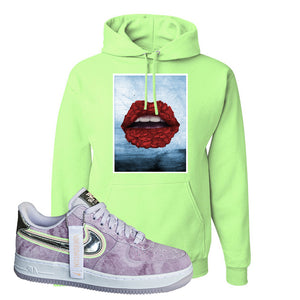 Air Force 1 P[her]spective Hoodie | Neon Green, Rose Lips