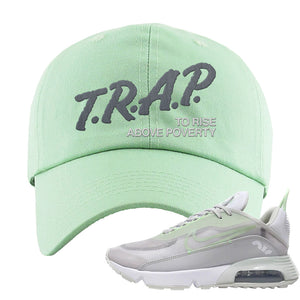 Air Max 2090 'Vast Gray' Dad Hat | Sage Green, Trap To Rise Above Poverty