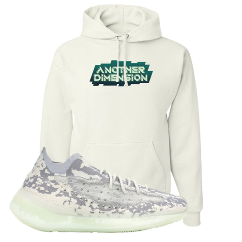 Yeezy Boost 380 Alien Another Dimension White Sneaker Matching Pullover Hoodie