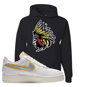 Air Force 1 Low 07 LX White Gold Hoodie | Indian Chief, Black