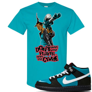 SB Dunk Mid 'Griffey' T Shirt | Tropical Blue, Dont Hate The Player