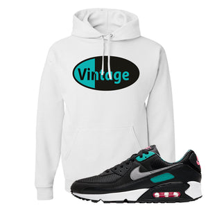 Air Max 90 Black New Green Hoodie | Vintage Oval, White