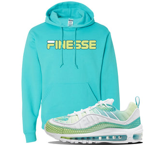 WMNS Air Max 98 Bubble Pack Sneaker Scuba Blue Pullover Hoodie | Hoodie to match Nike WMNS Air Max 98 Bubble Pack Shoes | Finesse