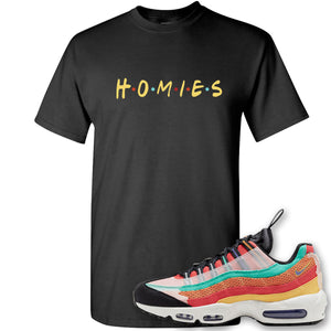 Air Max 95 Black History Month Sneaker Black T Shirt | Tees to match Nike Air Max 95 Black History Month Shoes | Homies