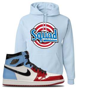 Air Jordan 1 Fearless Squad Light Blue Made to Match Pullover Hoodie