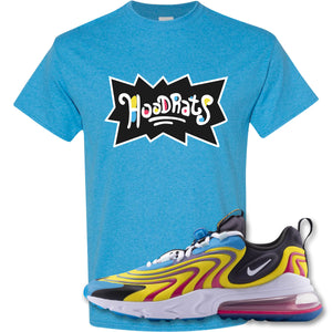 Hood Rats Heather Sapphire T-Shirt to match Air Max 270 React ENG Laser Blue Sneakers