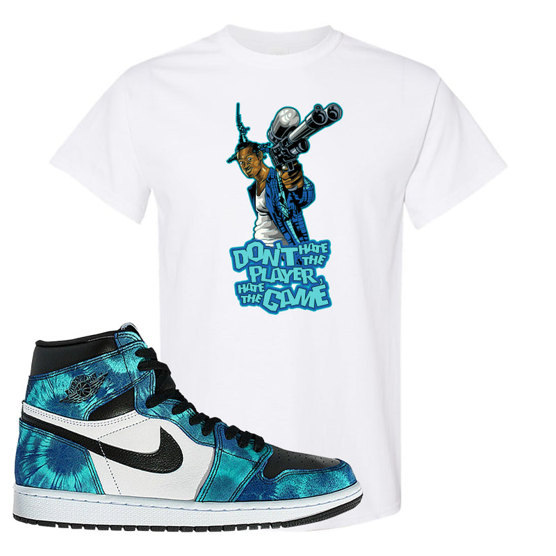 Air Jordan 1 WMNS 'Tie-Dye' T Shirt | White, Don't Hate The Playa