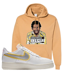 Air Force 1 Low 07 LX White Gold Hoodie | Escobar Illustration, Old Gold