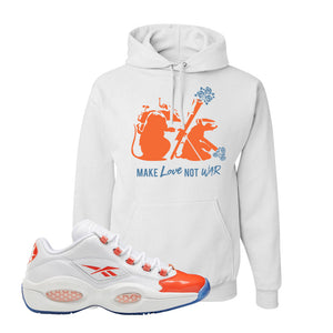 Question Low Vivid Orange Hoodie | Army Rats, White
