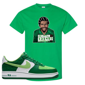 Air Force 1 Low St. Patrick's Day 2021 T Shirt | Escobar Illustration, Kelly