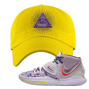Kyrie 6 Asia Irving Dad Hat | All Seeing Eye, Yellow