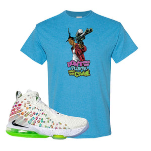 Lebron 17 Air Command Force T Shirt | Heather Sapphire, Dont Hate The Player