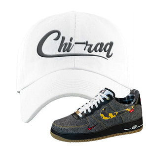 Air Force 1 Low Plaid And Camo Remix Pack Dad Hat | Chiraq, White
