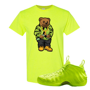 Air Foamposite Pro Volt T Shirt | Sweater Bear, Safety Green