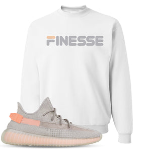 Yeezy Boost 350 True Form V2 Sneaker Hook Up Finesse White Crewneck Sweater