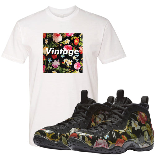 Wear this sneaker matching shirt to match your Air Foamposite One Floral sneakers. Match your floral foams today!