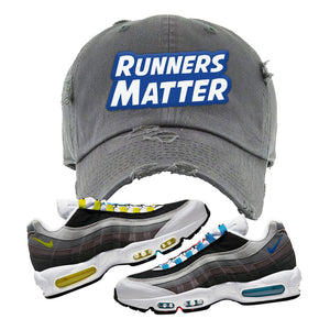 Air Max 95 QS Greedy Distressed Dad Hat | Dark Gray, Runners Matter