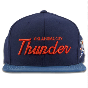 Oklahoma City Thunder 3M Reflective Script Mitchell and Ness Snapback Hat