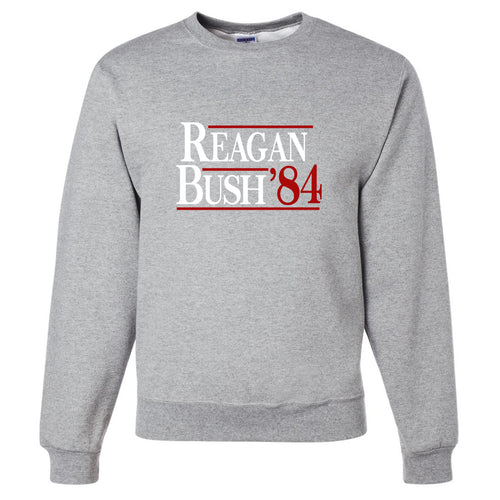Standard Issue Reagan Bush '84 Light Gray Grunt Life Crewneck Sweater