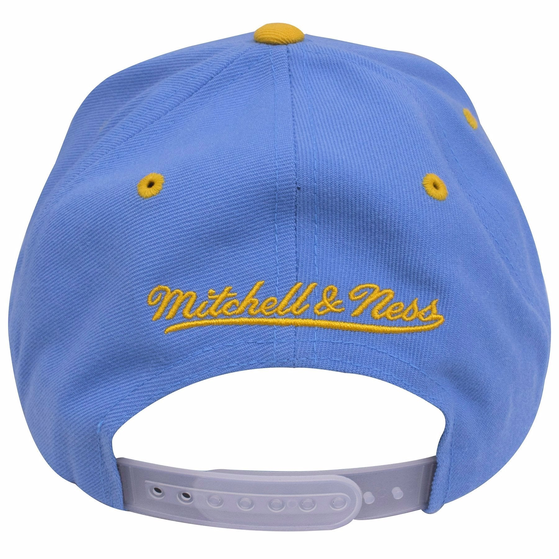 ebe1f2c8a6d97 ... on the back of the minneapolis lakers vintage los angeles lakers  snapback hat is a mitchell ...