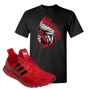 Ultra Boost 1.0 Nebraska T-Shirt | Indian Chief, Black