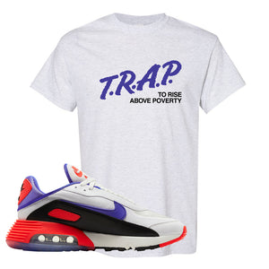 Air Max 2090 Evolution Of Icons T Shirt | Trap To Rise Above Poverty, Ash