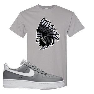 Air Force 1 Low Wolf Grey White T Shirt | Gravel, Indian Chief