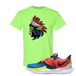 Kyrie Low 3 NY vs NY T Shirt | Indian Chief, Neon Green