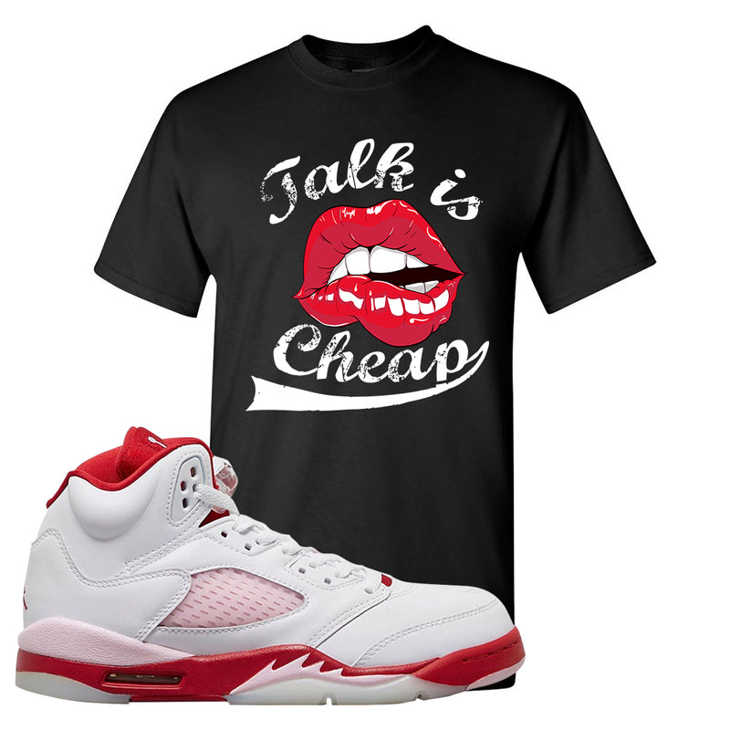 Air Jordan 5 GS Pink Foam and Gym Red T Shirt | Talk Is Cheap, Black