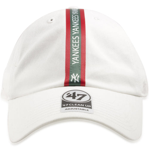 New York Yankees White Italian Stripe Green/Red Dad Hat