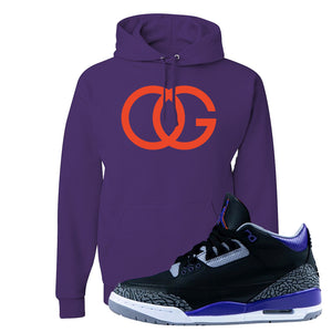 Air Jordan 3 Court Purple Hoodie | OG, Deep Purple